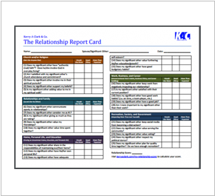Relationship Report Card (RRC)