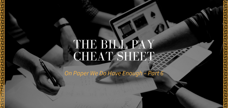 The Bill Pay Cheat Sheet